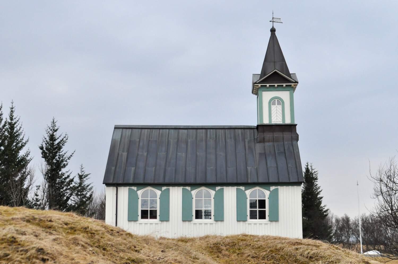 Þingvellir Church di Taman Nasional Þingvellir, Islandia
