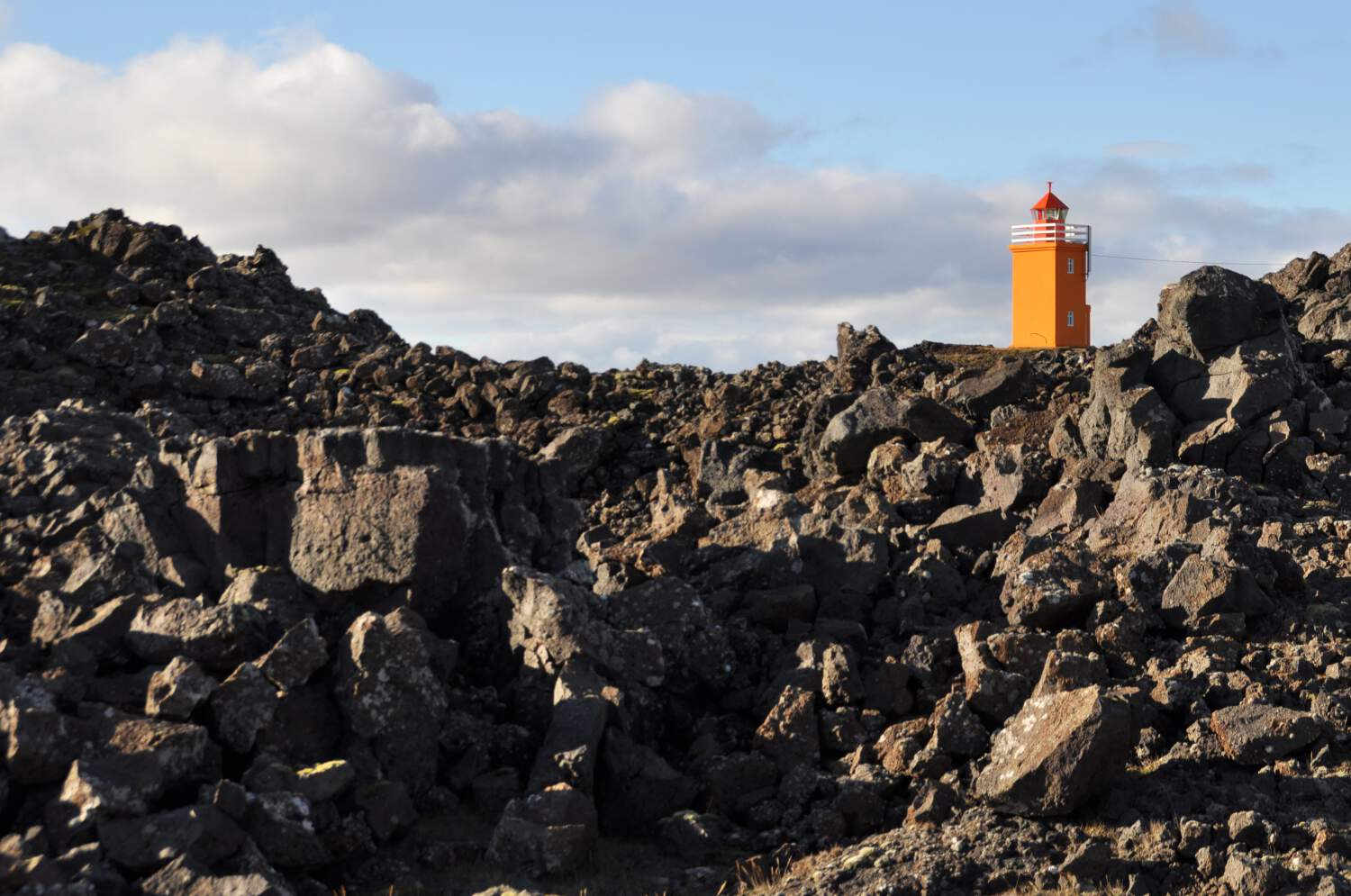 Lighthouse on Reykjanes peninsula